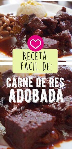 ADOBO DE CARNE DE RES | GUISADO MEXICANO Receta Saludable Facil y rapida para toda la familia