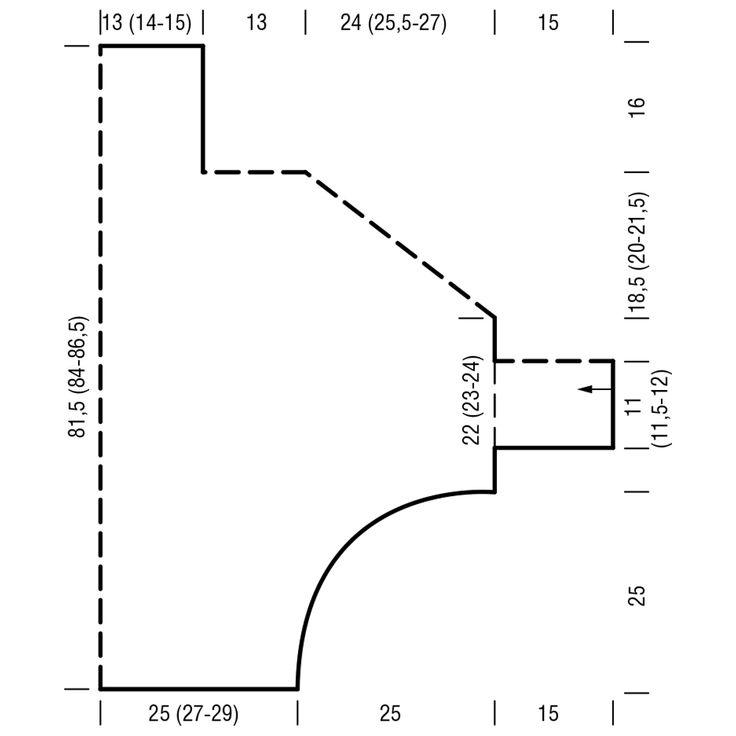 Свитер в горизонтальную резинку - схема вязания спицами. Вяжем Свитеры на Verena.ru