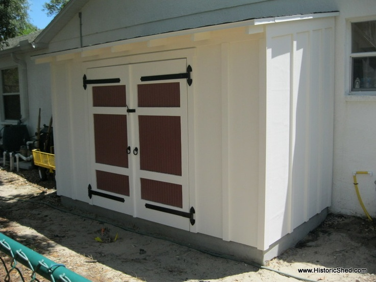 A shed roof garden shed by perfect for a for Side storage shed