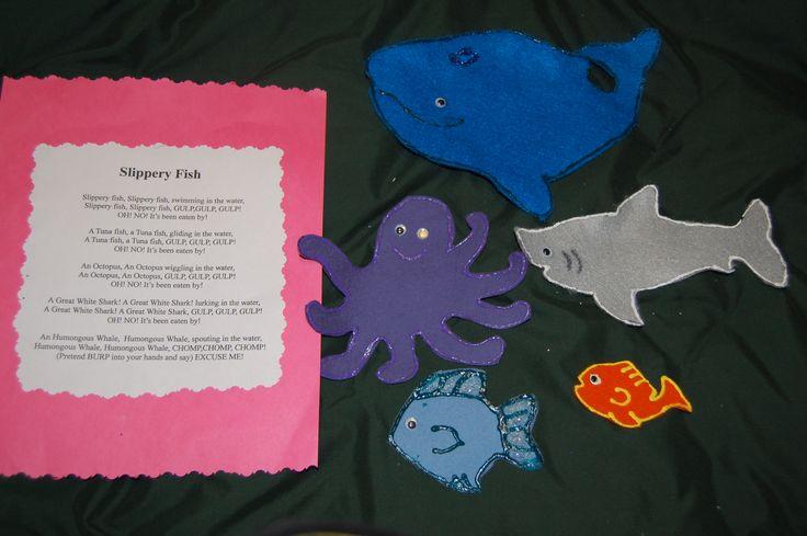 Slippery Fish magnetic board story for preschool storytime ...