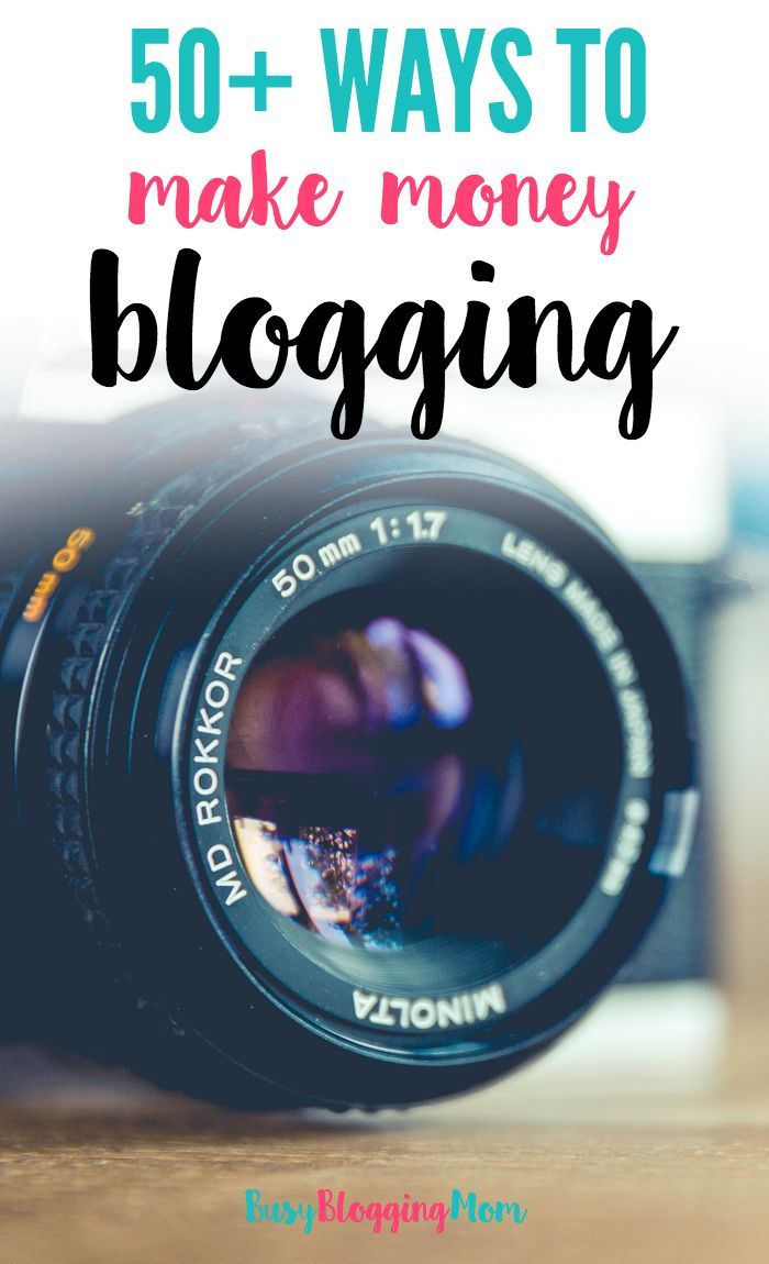 There are tons of ways to make money blogging. But when you're a beginner, it's hard to know where to start. Here are over 50 different ways that bloggers make money. This list includes ad networks, influencer networks (places to find sponsored work), product ideas, and more!