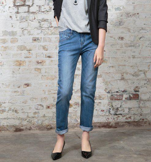 Spodnie damskie boyfit jeans - Promod
