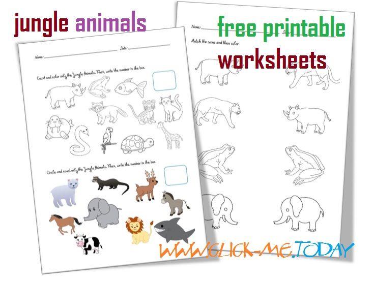 Free Printable Jungle Animals Worksheets Activities For Jungle Animals Animal Worksheets Preschool Jungle Jungle Animals