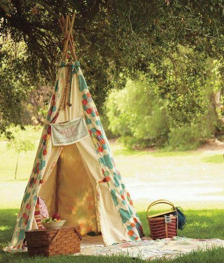 tee pee: Ideas, Outdoor, Teepees, Tent, Picnics, Garden, Teepee Picnic, Kid