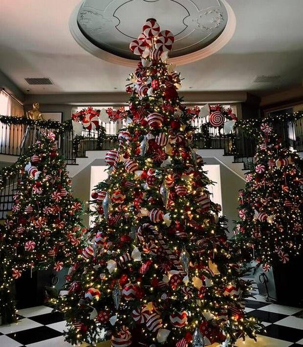 Kris' three Christmas trees. PIC: Kendal Jenner Instagram | Christmas  Ideas!! | Pinterest | Christmas, Christmas decorations and Xmas - Kris' Three Christmas Trees. PIC: Kendal Jenner Instagram