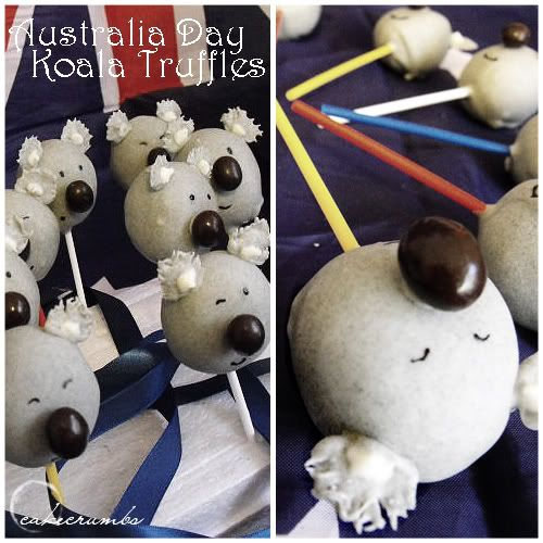Australia Day Koala Truffle Pops