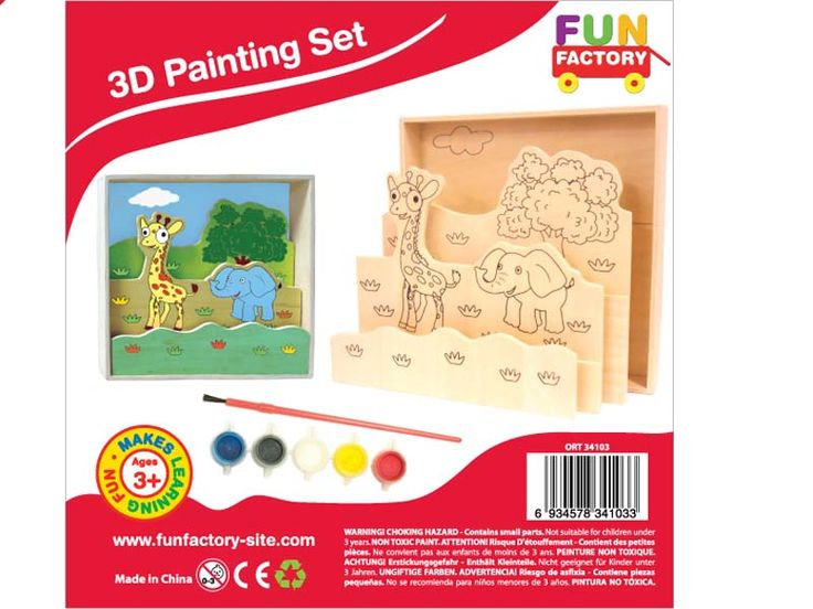 Wooden DIY Jungle Paint Set - $8 What a great item to entertain the kids! Their own 3D Jungle kit to paint 3yrs +