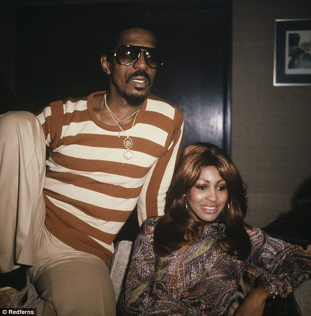 Tina with first husband Ike Turner in 1975