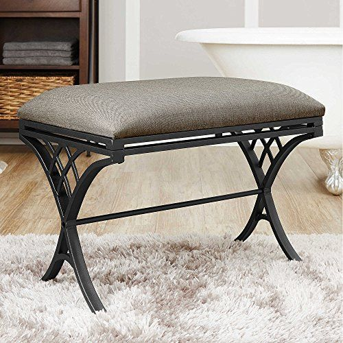 A feminine design with a classic feel makes this Emery Vanity Bench a lovely addition to any decor. The antique brass finish is accented with a mocha colored microfiber cushion for comfort. OTO 2 - [NEW] 15 Quality Healthy Cooking Articles With PLR 15 High quality Healthy Cooking PLR articles to... more details available at https://furniture.bestselleroutlets.com/bedroom-furniture/vanities-vanity-benches/product-review-for-emery-vanity-bench-2/