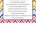 """This is a pledge that I have made a part of my morning routine. It says:  """"I am a [grade level]. I am unique and special. I am responsible for my o..."""