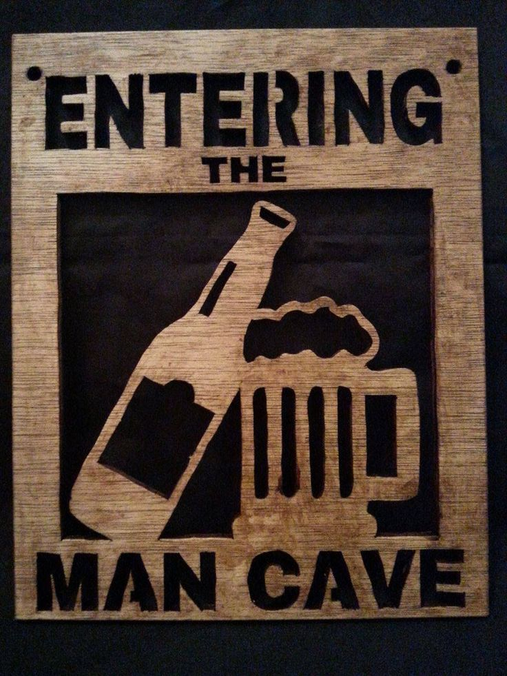 Handmade Entering the Man Cave, Wall Plaque, Wooden Wall Plaque, Man Cave Wooden Plaque, Scroll Saw Plaque, Scroll Saw Entering the Man Cave by TLRecreations on Etsy