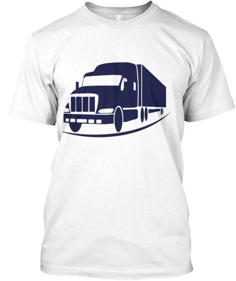 Truck Shart White T-Shirt Front