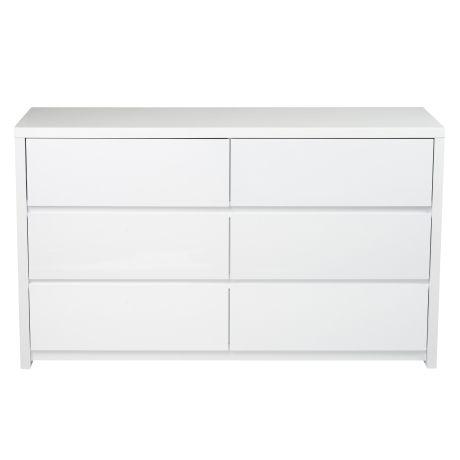 Elements 6 Drawer Dresser  White $499. Freedom. Width: 130 cm Height: 76 cm Depth: 45 cm