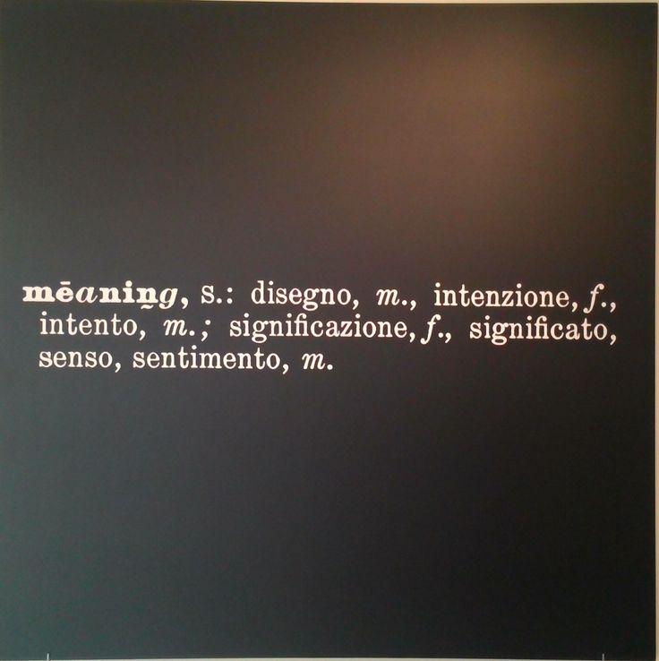 Joseph Kosuth, Titled (Art as idea as idea) (Meaning), (1967)