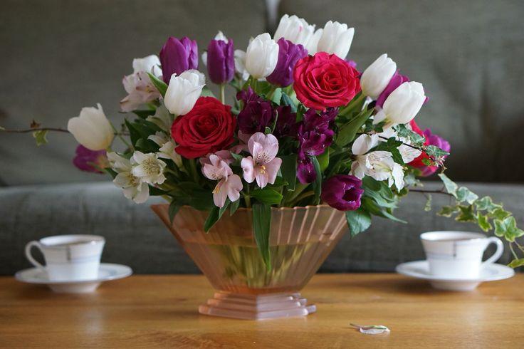 Résultat d'images pour Beaux bouquets de dahlias