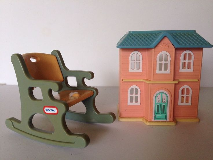 Vintage Little Tikes Grand Mansion Dollhouse Rocker Mini Doll House  Furniture #LittleTikes