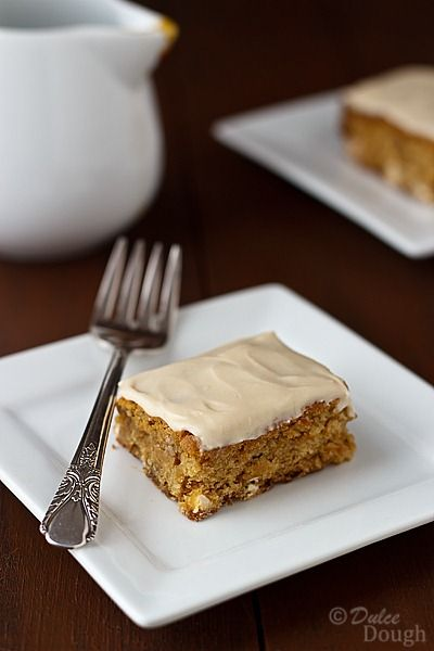 Maple Blondies with Maple Butter Frosting.