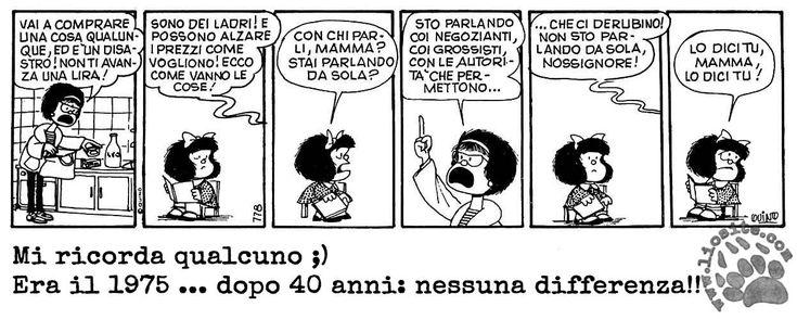 Visto il tempo e il rischio elevato di restare senza corrente (causa freezing rain), meglio mettere qualcosa di leggero e divertente. La solita Mafalda, sempre attuale :) #mafalda, #quino, #economia, #attualità, #strisce, #comics, #fumetti, #italiano,