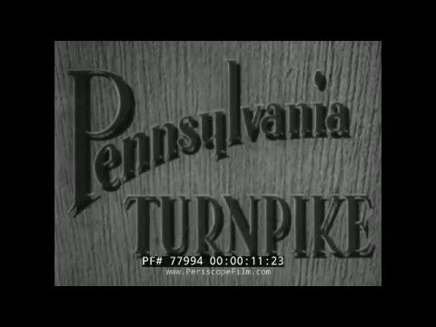 This documentary, produced by the Portland Cement Association, describes the construction and utility of The Pennsylvania Turnpike, completed October, .