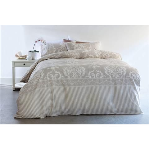 Damask Quilt Cover Set - Queen