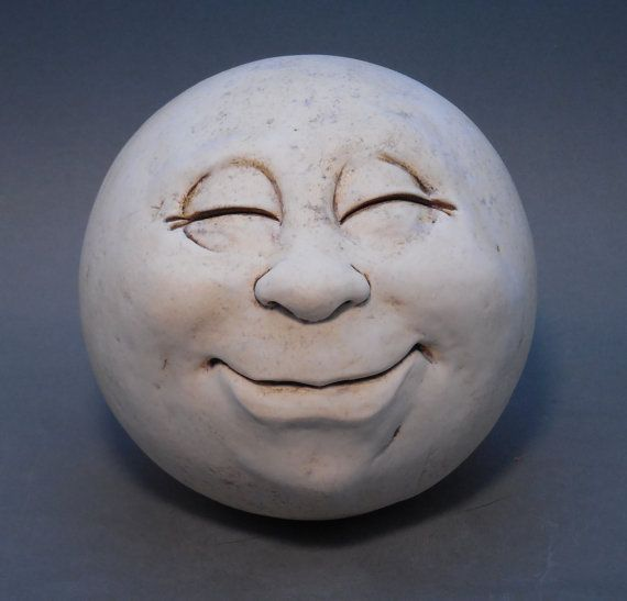 Man-in-the-Moon Garden Head Antique by thefunnything on Etsy