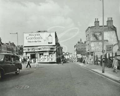 Islington High Street: Islington High Street by Upper Street looking to Camden Passage, 1970