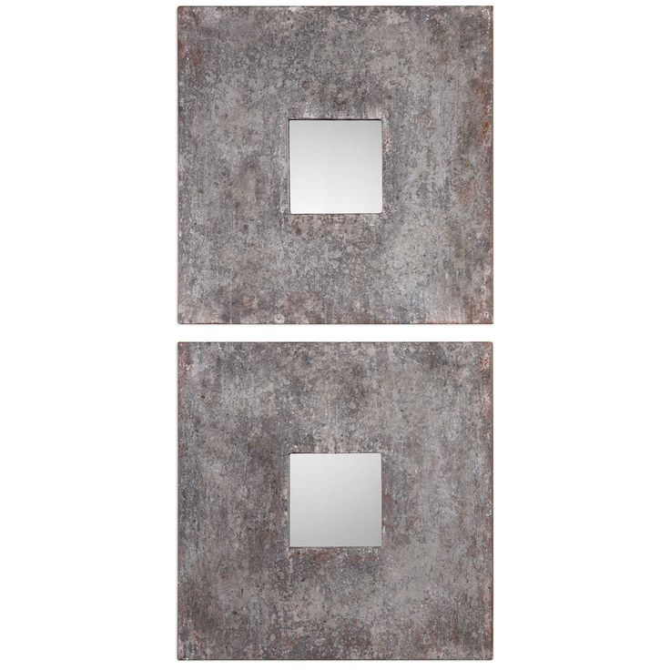 Uttermost Altha Burnished Square Mirror Set of 2