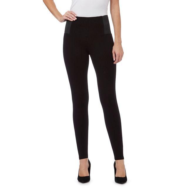 Black 'Slim & Trim' fit leggings