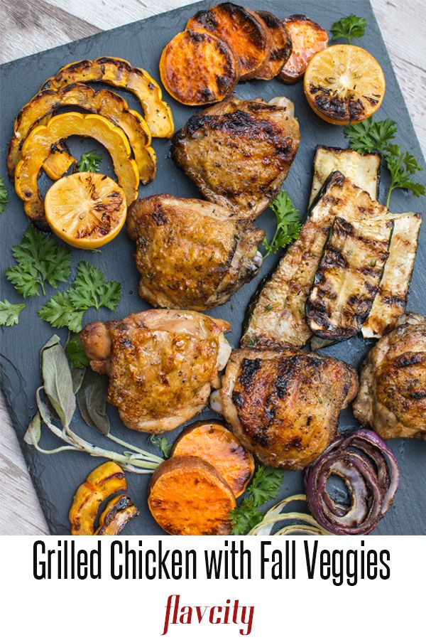 This Easy Grilled Chicken Recipe Shows How To Grill Fall Veggies