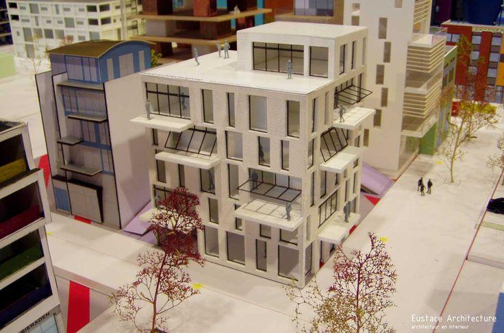 Duurzame CPO zelfbouw loft appartementen (foto maquette) - Loft casco appartementen | Eustace Architectuur