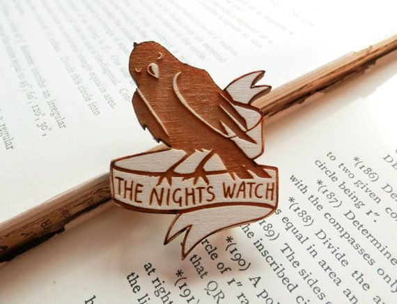 Game of Thrones Brooch  The Nights Watch by kateslittlestore, $9.50