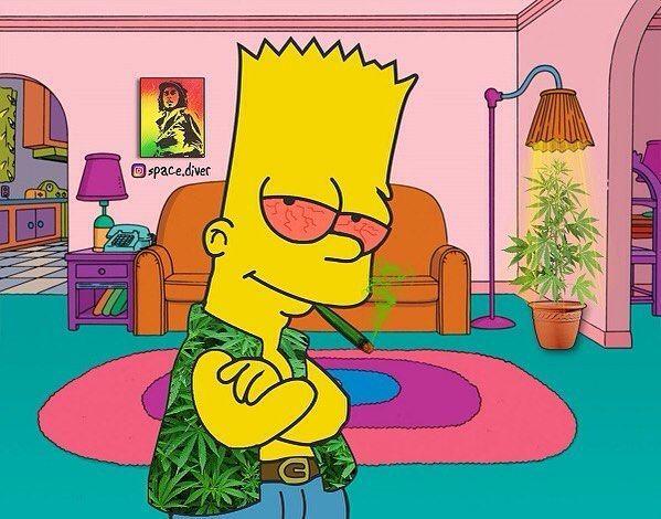 Light It Up With Bart Bart Simpson Drawing Bart Simpson Art Simpsons Tattoo Cartoon boy smoking weed wallpaper