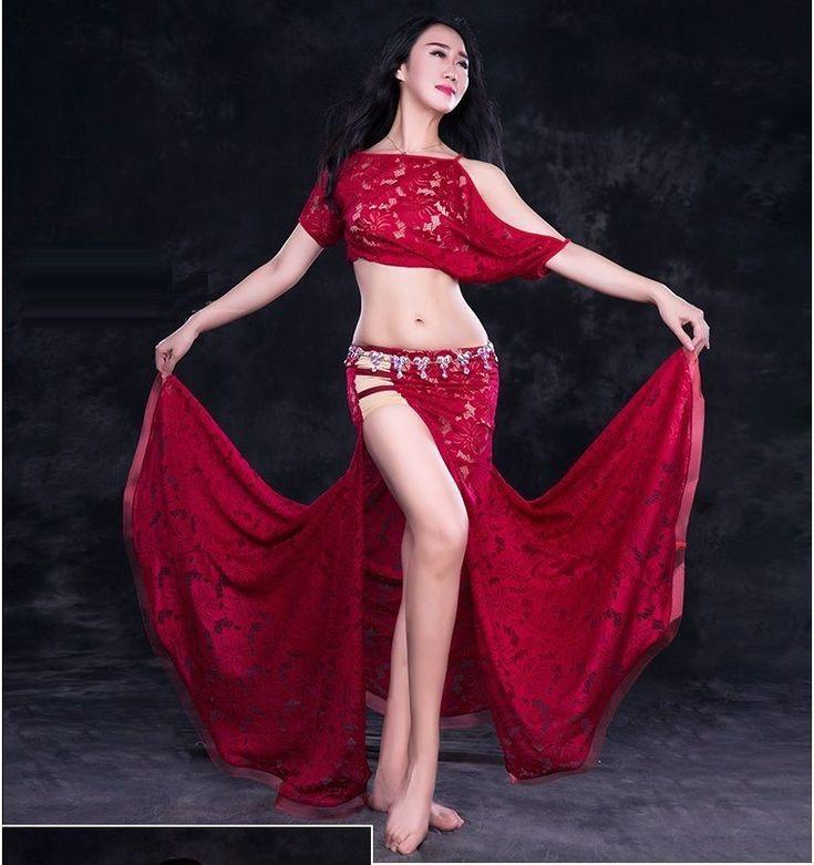 Blusa De Encaje + Encaje Falda de hendidura 2 un. Conjunto Disfraces de danza del vientre rendimiento Dancewear   Ropa, calzado y accesorios, Trajes de baile, Trajes de baile para adultos   eBay! #Dancing