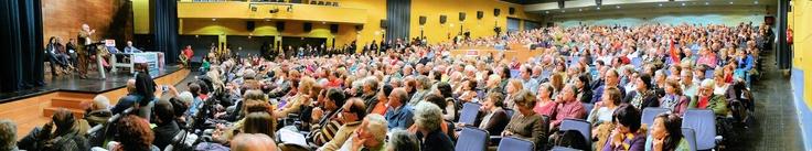 14 de enero de 2012: Lleno total en el Auditorio Marcelino Camacho (CCOO), de Madrid, en el primer acto de apoyo a Baltasar Garzón del año. Se inaugura así una etapa muy intensa de actos y movilizaciones.