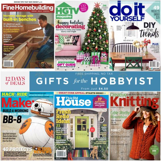 Discount Mags – Gifts for the Hobbyist Sale, Limited time!