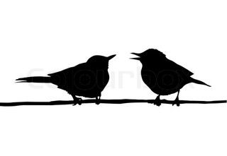 Image of 'vector silhouette ravens on branch tree'