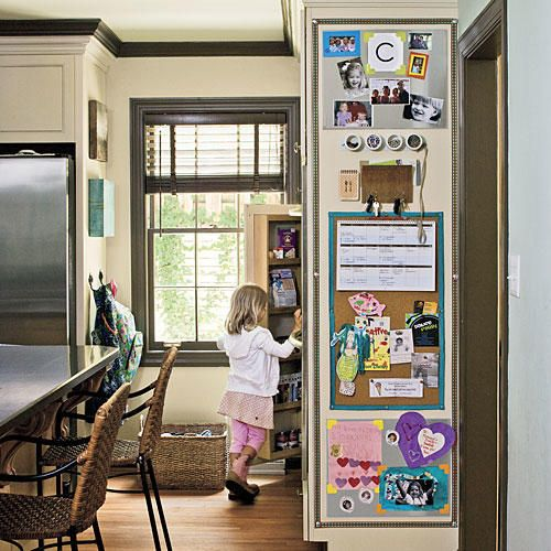 Message Center - Organize Your Kitchen - Southernliving. Help keep your family organized by installing a family message center in your kitchen.Make your own message center with our simple instructions.