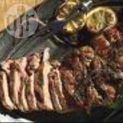 Foto recept: In de oven gebakken lam met rozemarijn en knoflook