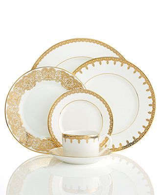 Waterford Dinnerware, Lismore Lace Gold Collection - Fine China - Dining  Entertaining - Macy's