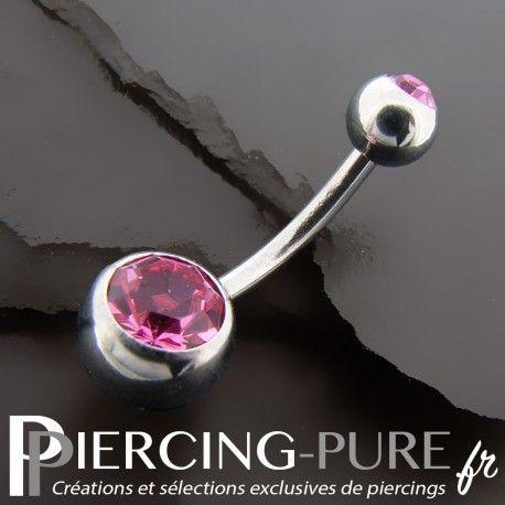 #piercing #piercingnombril #piercingstrass #navelpiercing #piercingrose https://piercing-pure.fr/p/58-piercing-nombril-deux-cristaux-roses.html