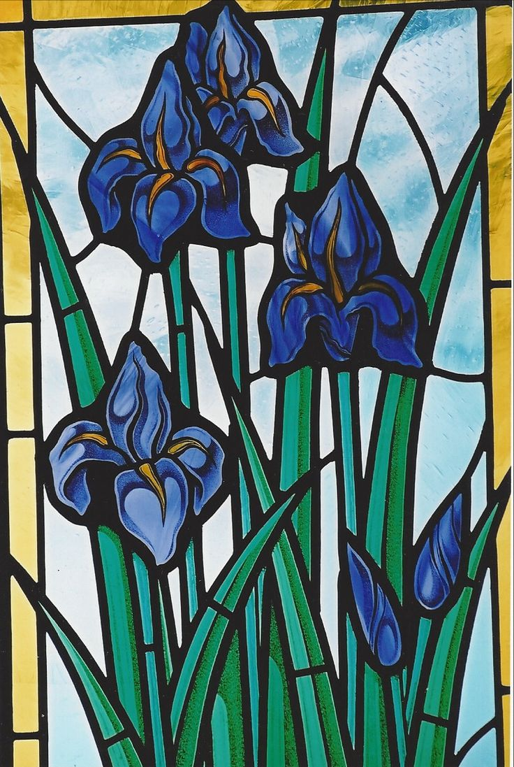 Irises - Spring Flowers http://www.gilroystainedglass.com/gilroy/2016/04/spring-flowers/