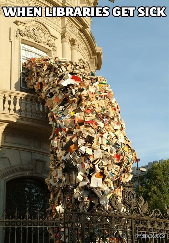 Or, when the base library closes. It makes me sick to think what will happen to all those books.