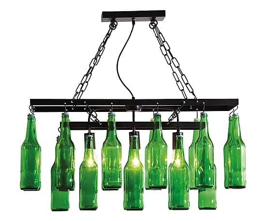 Lampadario in acciaio bottles - 86x85x32 cm
