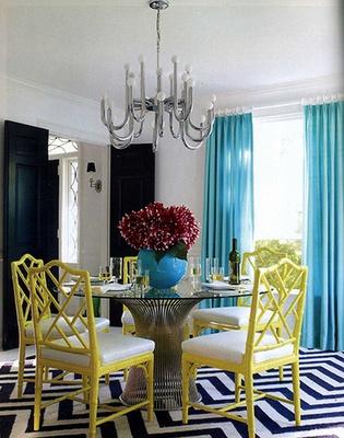 yellow and white chairs