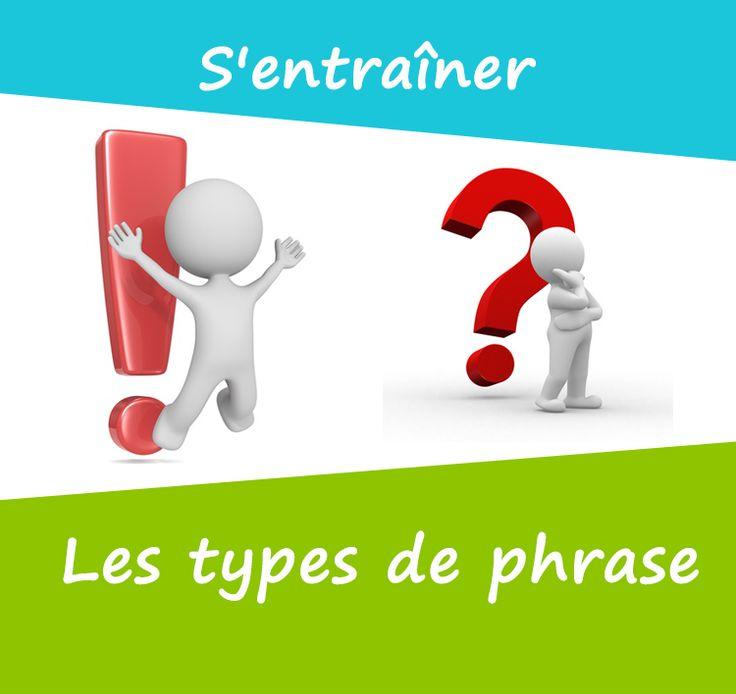 Il existe 3 types de phrases : la phrase déclarative, la phrase interrogative et la phrase exclamative. Il faut savoir à quoi elles servent et qu'elles sont leurs caractéristiques.