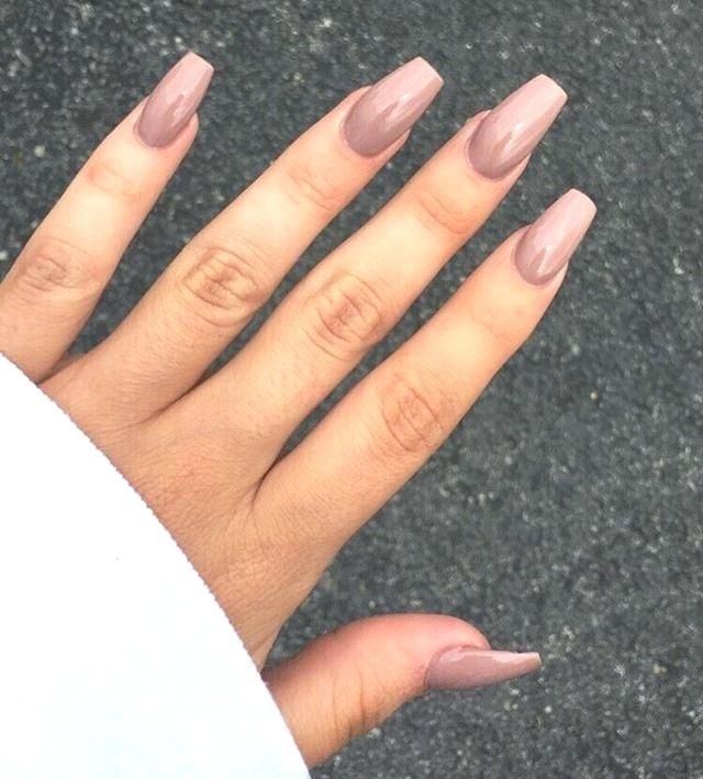 Coffin Nails Acrylic Nails Nail Designs 2018 Long Nails Mauve Nails Shiny Nails Mauve Nails Simple Nails Acrylic Nail Designs
