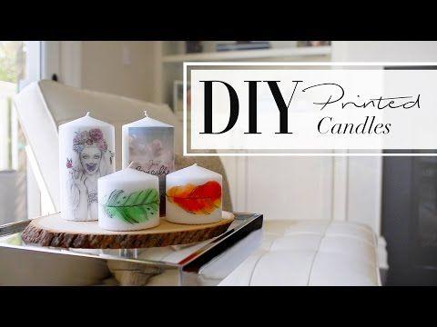 DIY Printed Candles   ANNEORSHINE & WhatsUpMoms - YouTube
