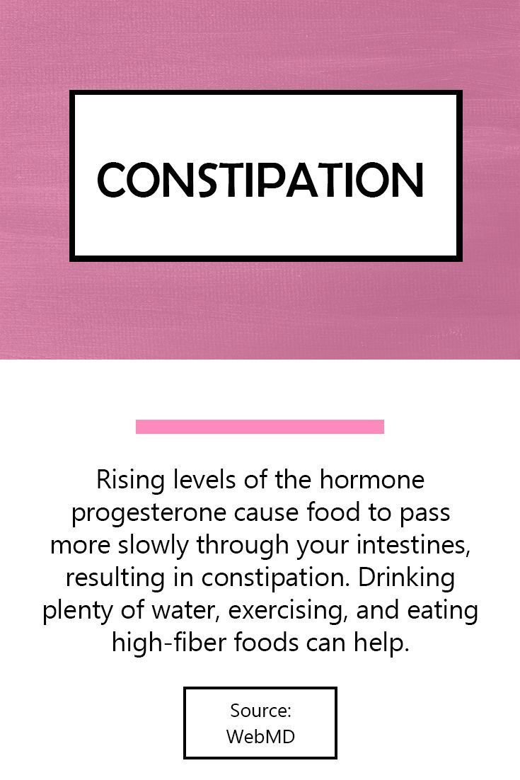 Constipation | Rising levels of the hormone progesterone cause food to pass more slowly through your intestines, resulting in constipation. Drinking plenty of water, exercising, and eating high-fiber foods can help. #pregnancysymptoms #signsofpregnancy #pregnancy #signsofconstipation #pregnancyandconstipation,