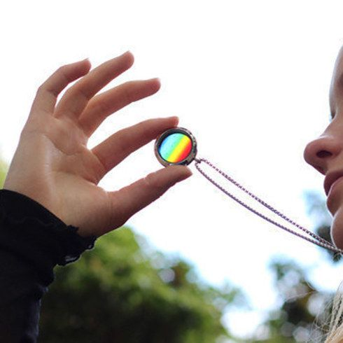 23 Majestically Beautiful Pieces Of Science Jewelry Solar Spectrum Translucent Necklace Pendant
