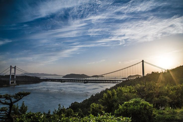 Seto inland sea Bridge in Japan